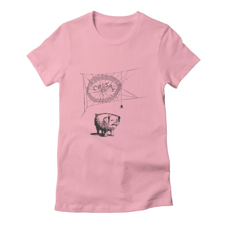 Charlotte's Web of Deceipt in Women's Fitted T-Shirt Light Pink by 2D