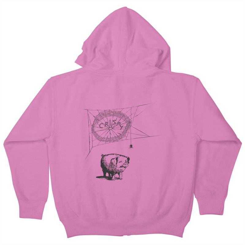 Charlotte's Web of Deceipt Kids Zip-Up Hoody by 2D