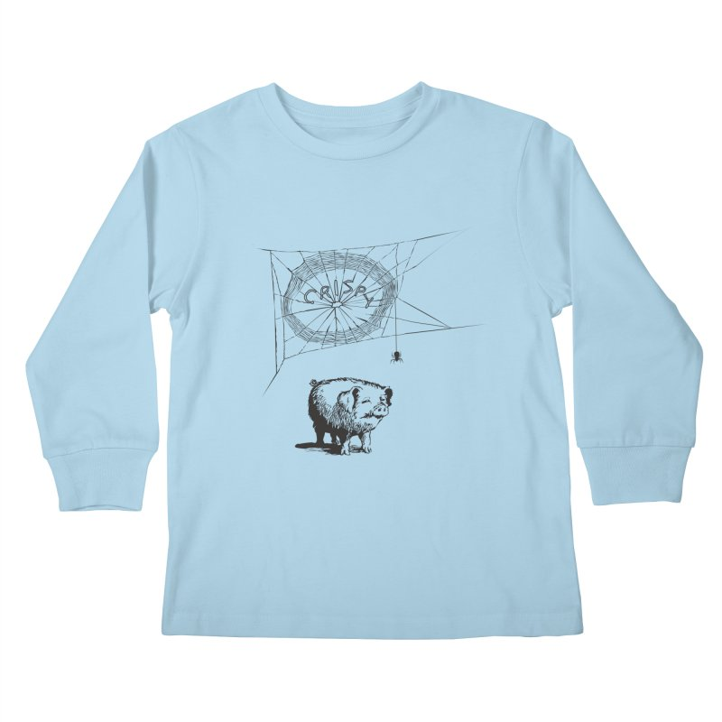 Charlotte's Web of Deceipt Kids Longsleeve T-Shirt by 2D