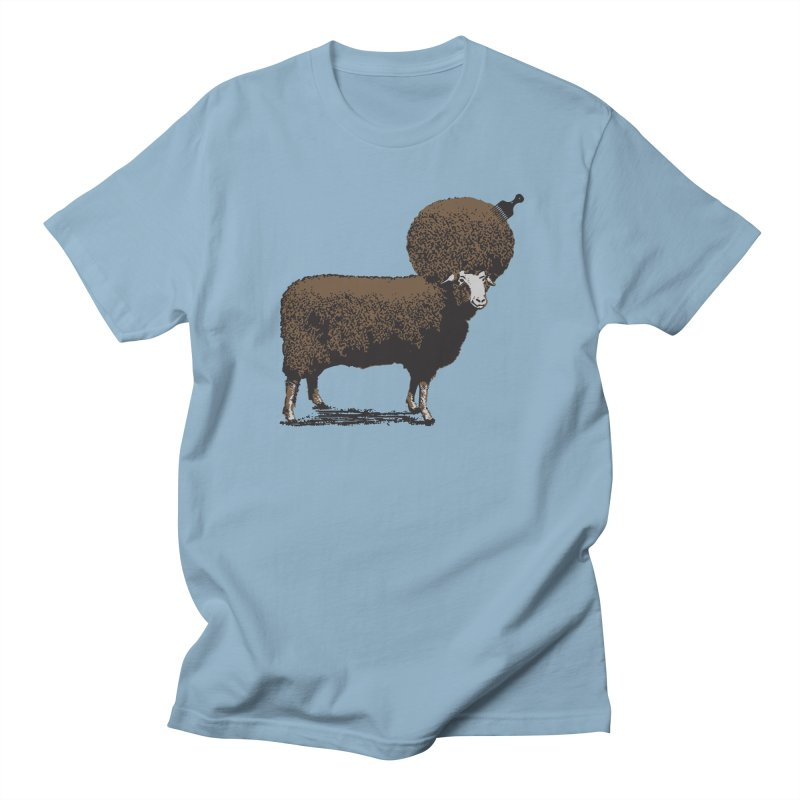 The Black Sheep in Men's T-shirt Light Blue by 2D