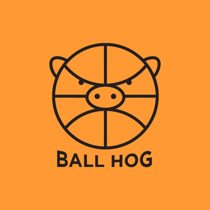 Ball Hog Men's T-shirt by 2D