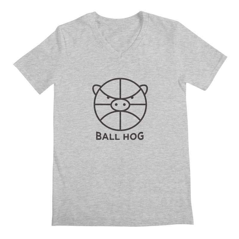 Ball Hog Men's V-Neck by 2D