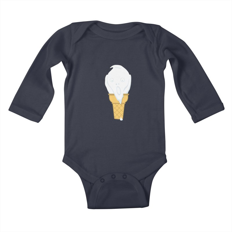 The Scream (For Ice Cream) in Kids Baby Longsleeve Bodysuit Midnight by 2D
