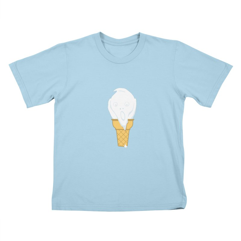 The Scream (For Ice Cream) Kids T-Shirt by 2D