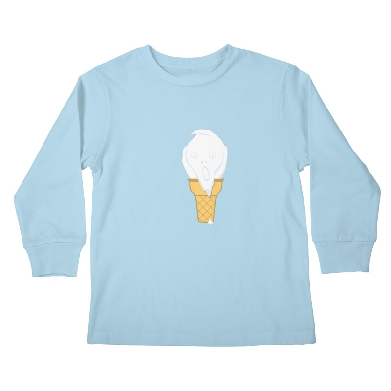The Scream (For Ice Cream) Kids Longsleeve T-Shirt by 2D