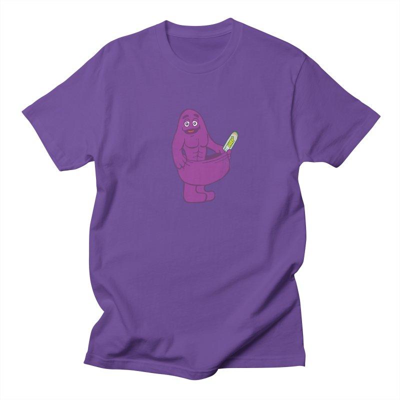 Grimace tries the Subway diet.* Men's T-shirt by 2D
