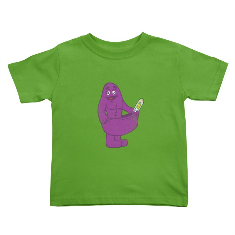 Grimace tries the Subway diet.* Kids Toddler T-Shirt by 2D