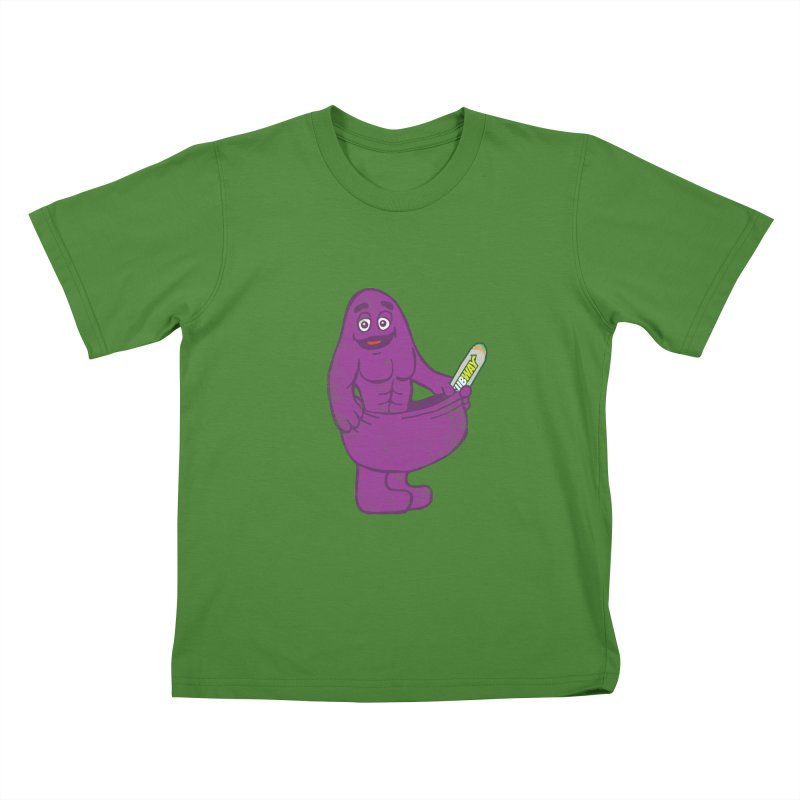 Grimace tries the Subway diet.* Kids T-shirt by 2D