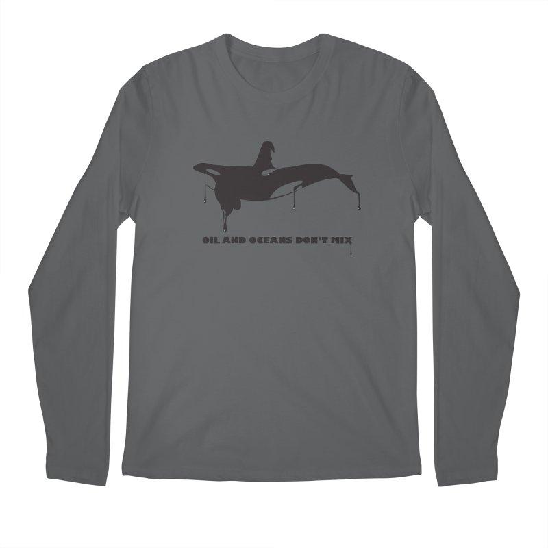 OIL AND OCEANS DON'T MIX Men's Regular Longsleeve T-Shirt by 2D