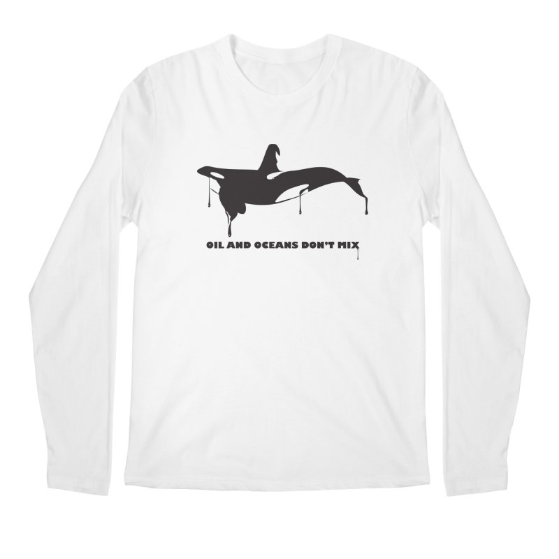 OIL AND OCEANS DON'T MIX Men's Longsleeve T-Shirt by 2D