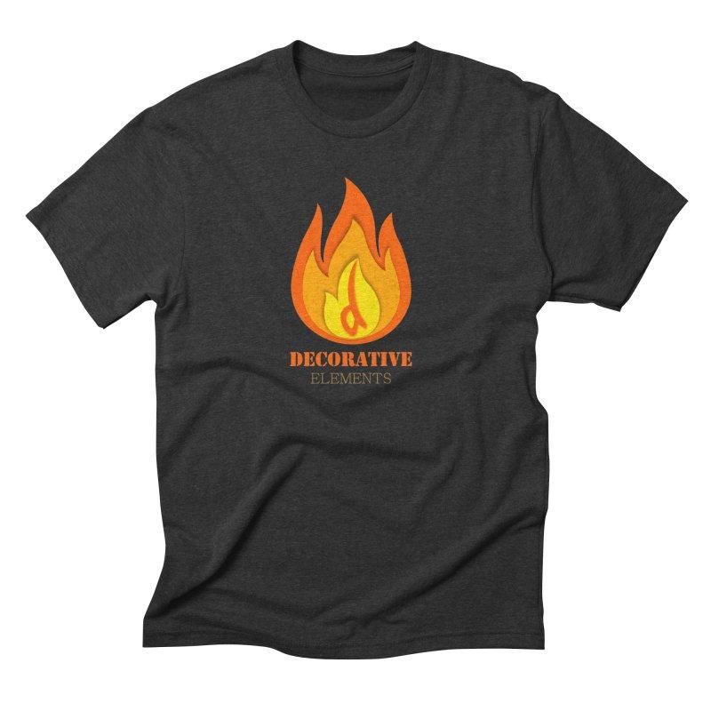 DECORATIVE ELEMENTS Men's Triblend T-shirt by 2Dyzain's Artist Shop