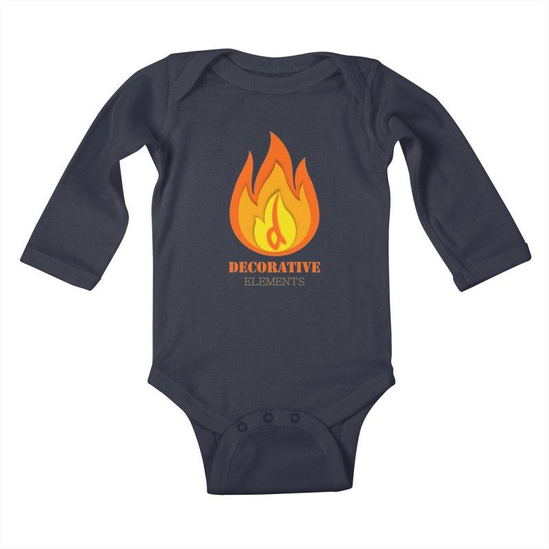 DECORATIVE ELEMENTS Kids Baby Longsleeve Bodysuit by 2Dyzain's Artist Shop