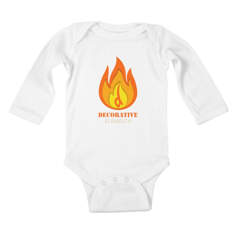 DECORATIVE ELEMENTS Kids Baby Longsleeve Bodysuit by 2Dyzain's Artist Shop