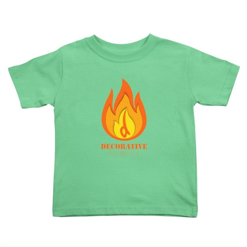 DECORATIVE ELEMENTS Kids Toddler T-Shirt by 2Dyzain's Artist Shop