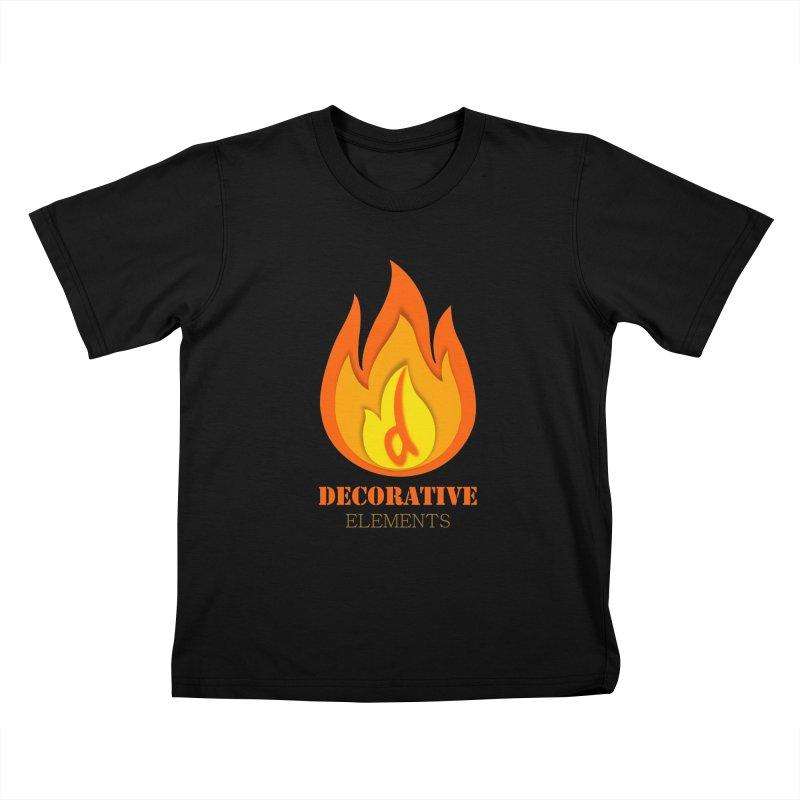 DECORATIVE ELEMENTS Kids T-Shirt by 2Dyzain's Artist Shop