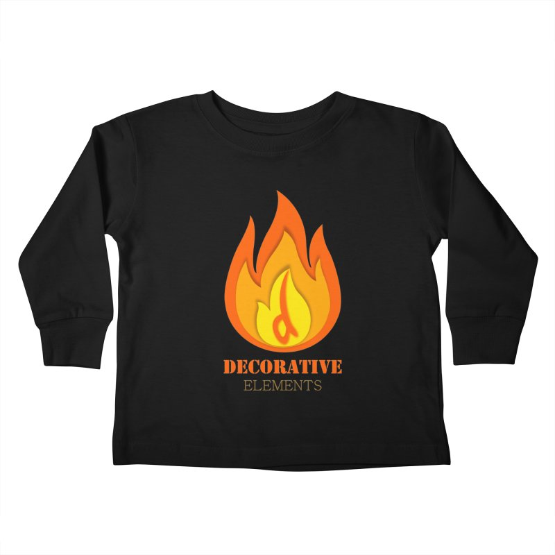 DECORATIVE ELEMENTS Kids Toddler Longsleeve T-Shirt by 2Dyzain's Artist Shop