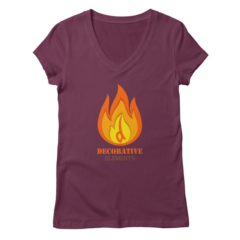 DECORATIVE ELEMENTS Women's V-Neck by 2Dyzain's Artist Shop