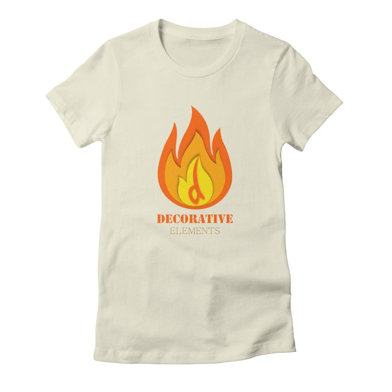 DECORATIVE ELEMENTS Women's Fitted T-Shirt by 2Dyzain's Artist Shop