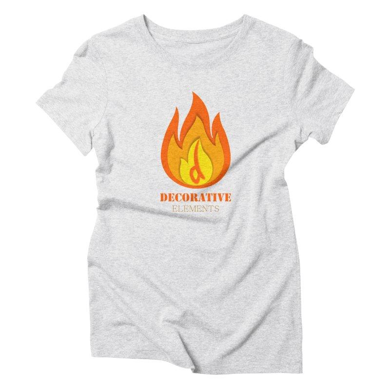 DECORATIVE ELEMENTS Women's Triblend T-Shirt by 2Dyzain's Artist Shop