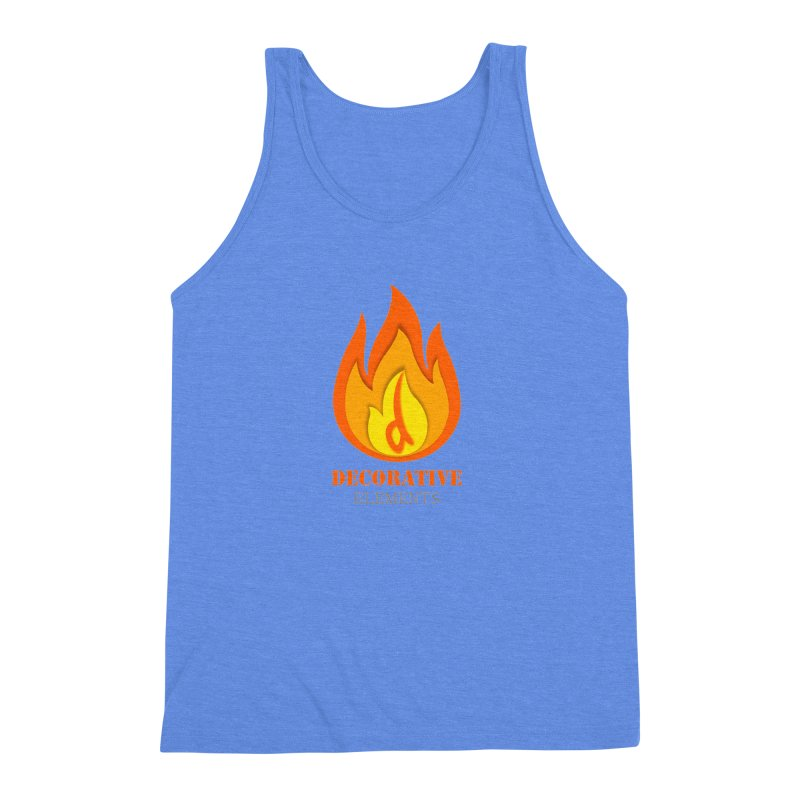 DECORATIVE ELEMENTS Men's Triblend Tank by 2Dyzain's Artist Shop