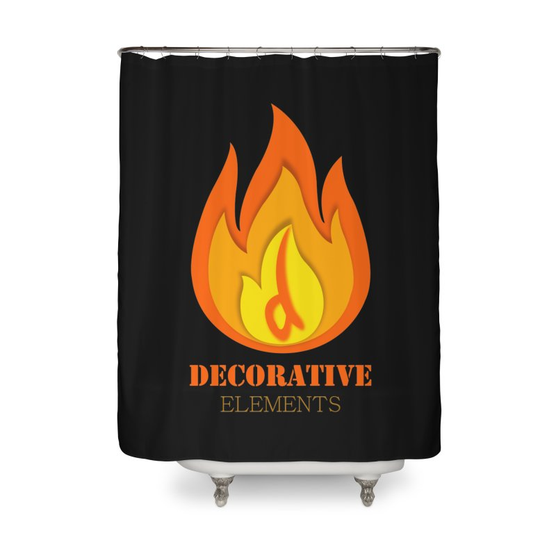 DECORATIVE ELEMENTS Home Shower Curtain by 2Dyzain's Artist Shop