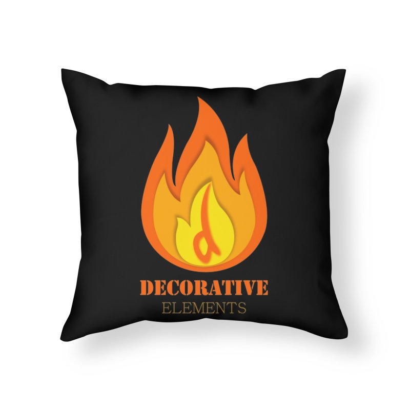 DECORATIVE ELEMENTS Home Throw Pillow by 2Dyzain's Artist Shop