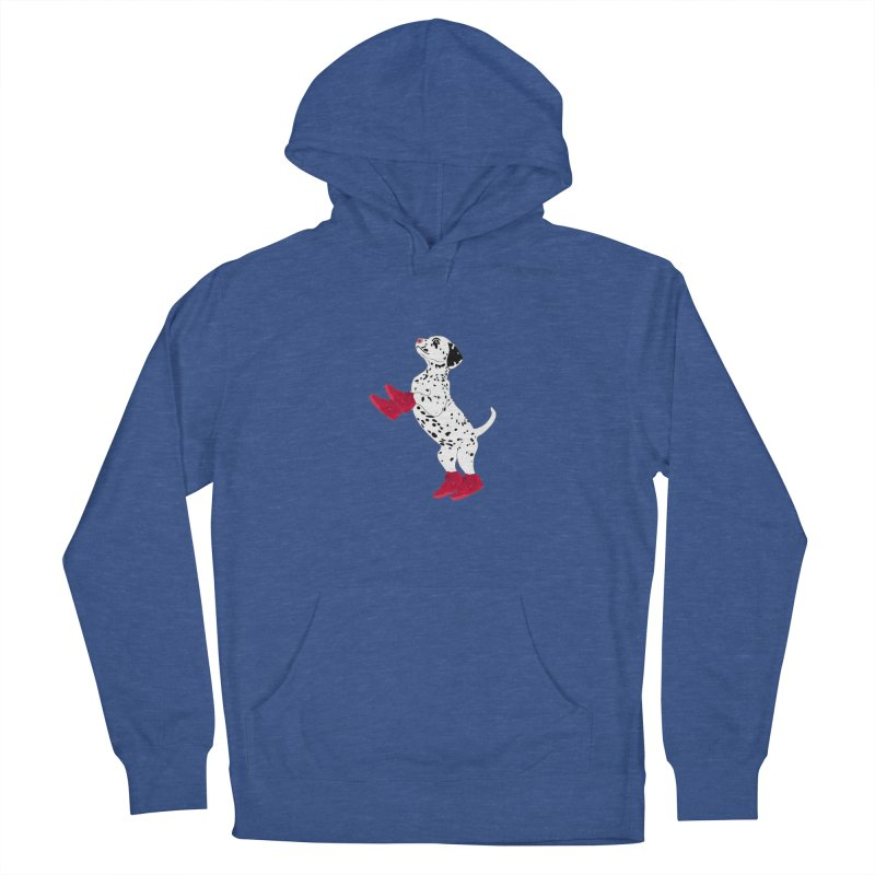 Dalmatian Puppy with Red High Top Basketball Shoes Men's Pullover Hoody by 2Dyzain's Artist Shop