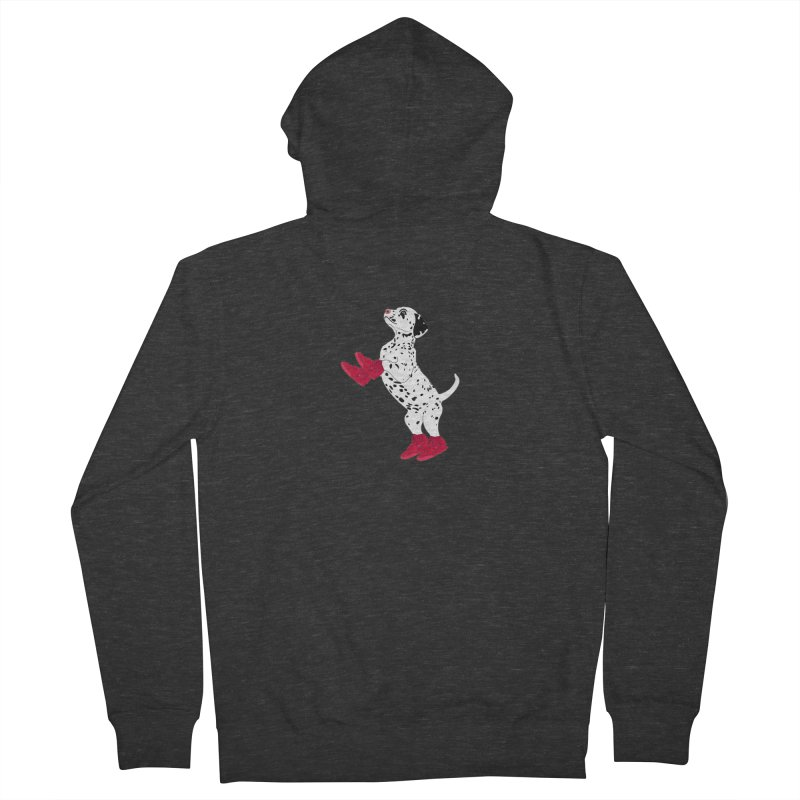 Dalmatian Puppy with Red High Top Basketball Shoes Men's Zip-Up Hoody by 2Dyzain's Artist Shop