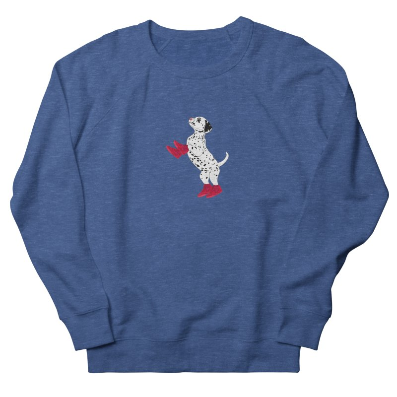 Dalmatian Puppy with Red High Top Basketball Shoes Men's Sweatshirt by 2Dyzain's Artist Shop