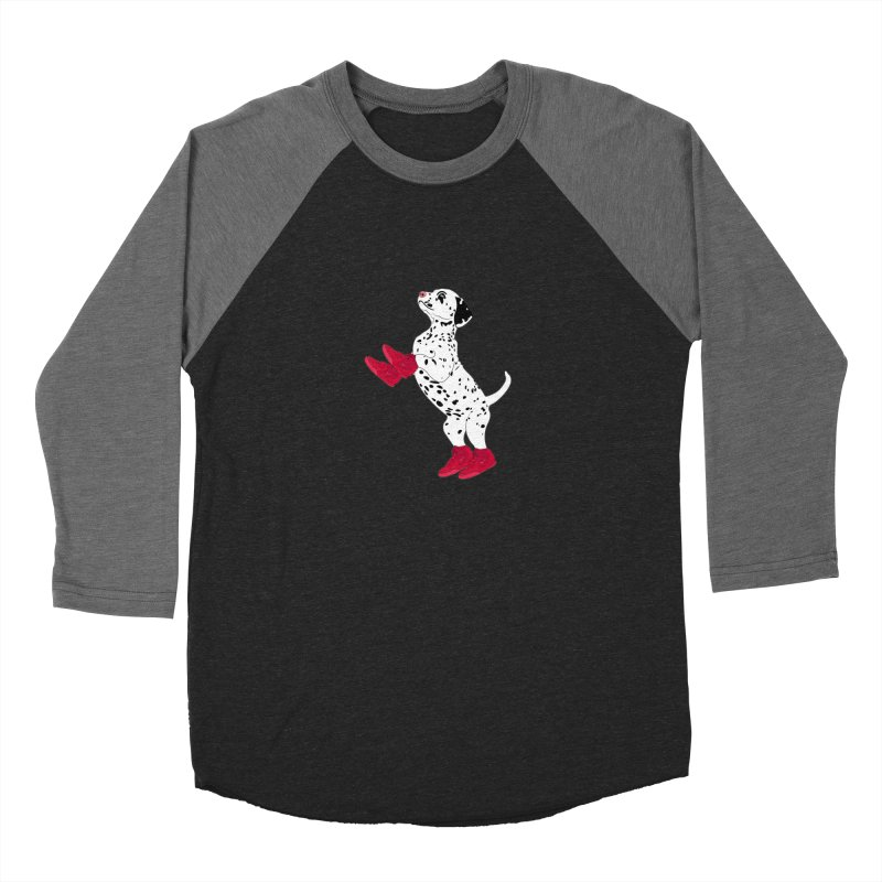 Dalmatian Puppy with Red High Top Basketball Shoes Women's Baseball Triblend T-Shirt by 2Dyzain's Artist Shop