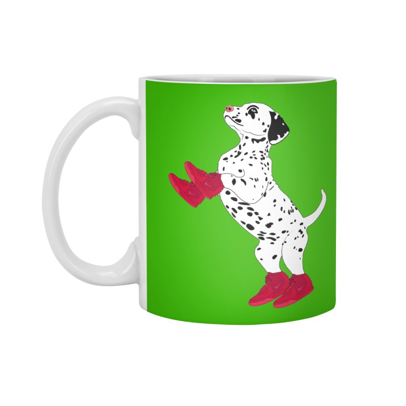 Dalmatian Puppy with Red High Top Basketball Shoes Accessories Mug by 2Dyzain's Artist Shop