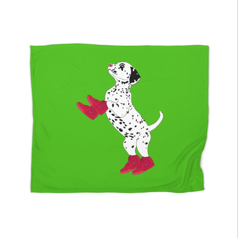 Dalmatian Puppy with Red High Top Basketball Shoes Home Blanket by 2Dyzain's Artist Shop