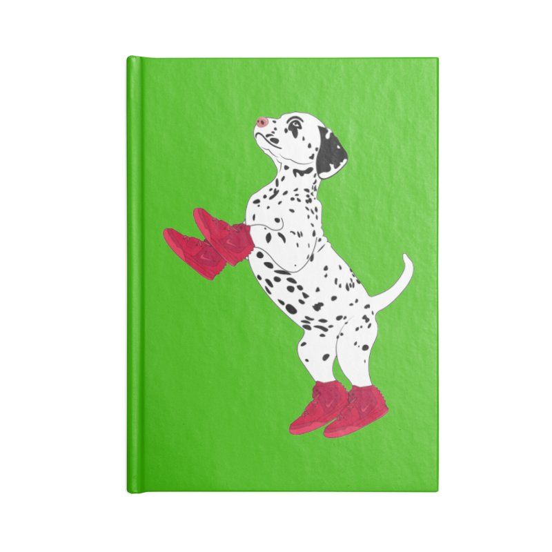 Dalmatian Puppy with Red High Top Basketball Shoes Accessories Notebook by 2Dyzain's Artist Shop