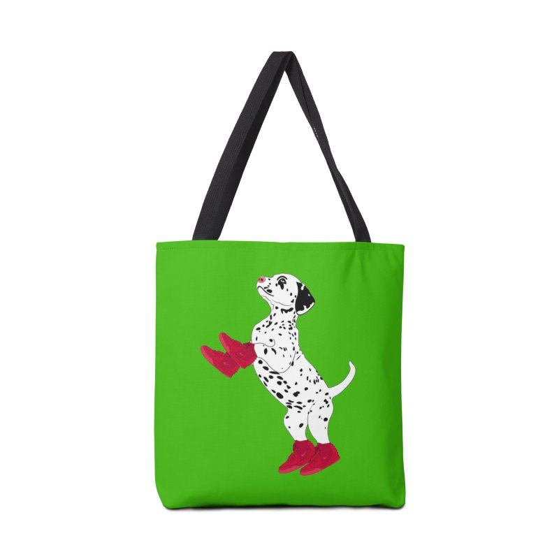 Dalmatian Puppy with Red High Top Basketball Shoes Accessories Bag by 2Dyzain's Artist Shop