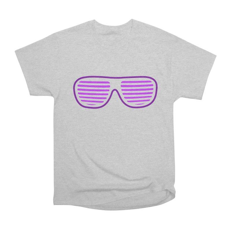 Purple Glasses Women's Heavyweight Unisex T-Shirt by 2Dyzain's Artist Shop
