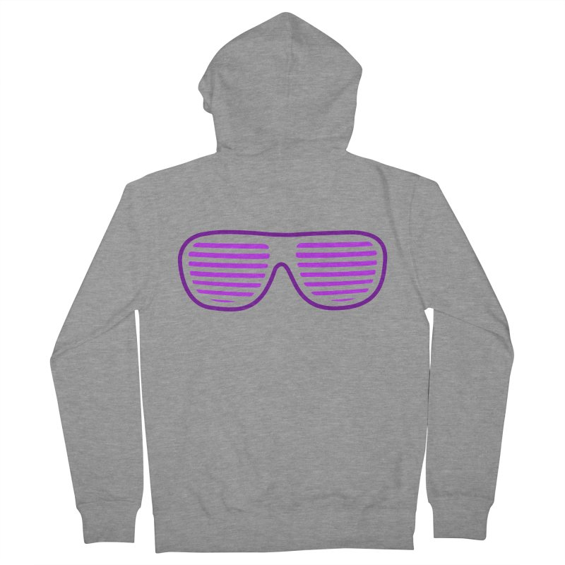 Purple Glasses Men's Zip-Up Hoody by 2Dyzain's Artist Shop