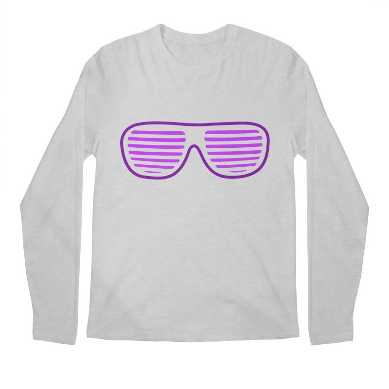 Purple Glasses Men's Longsleeve T-Shirt by 2Dyzain's Artist Shop