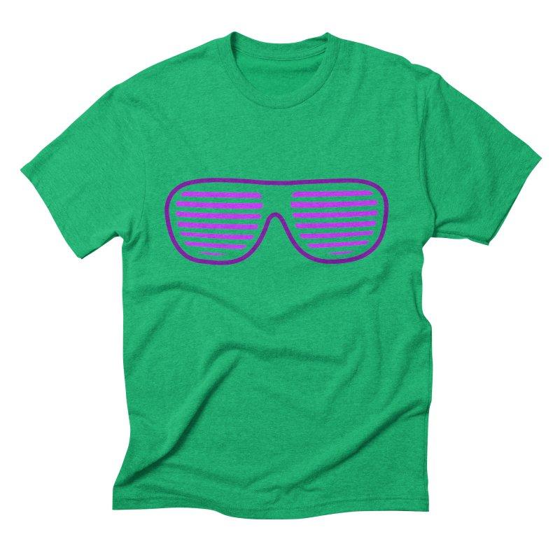 Purple Glasses Men's Triblend T-shirt by 2Dyzain's Artist Shop