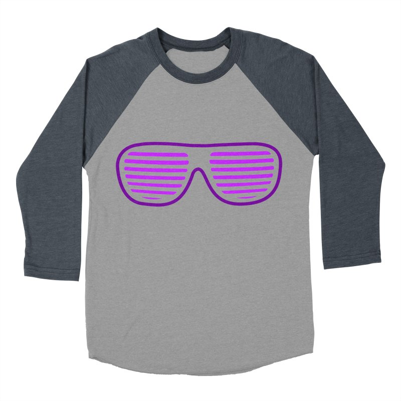 Purple Glasses Men's Baseball Triblend T-Shirt by 2Dyzain's Artist Shop