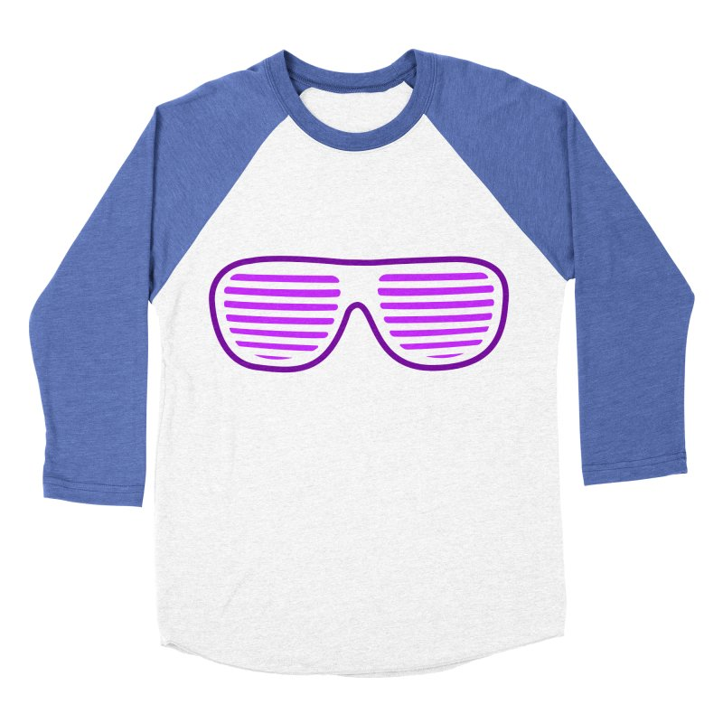 Purple Glasses Men's Baseball Triblend T-Shirt by 2Dyzain's Artist Shop