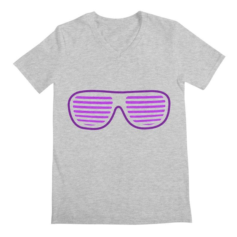 Purple Glasses Men's V-Neck by 2Dyzain's Artist Shop