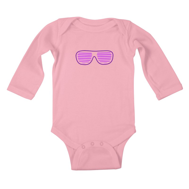 Purple Glasses Kids Baby Longsleeve Bodysuit by 2Dyzain's Artist Shop