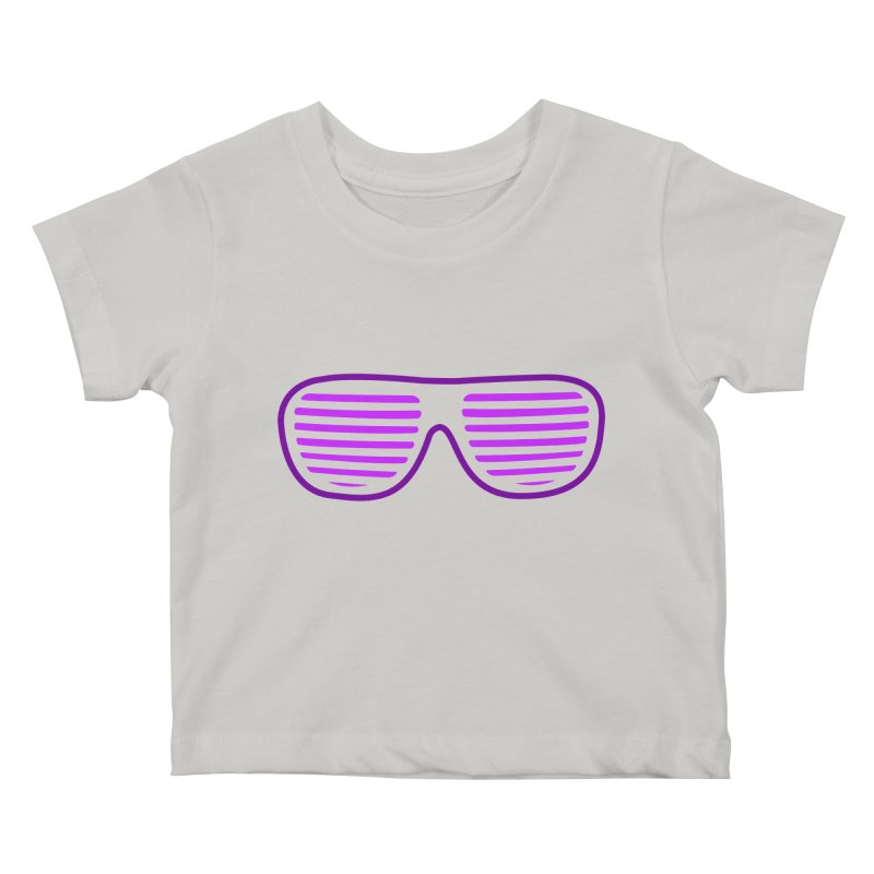 Purple Glasses Kids Baby T-Shirt by 2Dyzain's Artist Shop