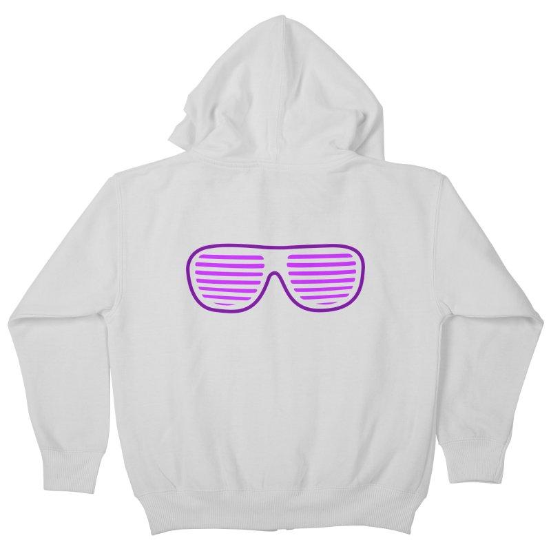 Purple Glasses Kids Zip-Up Hoody by 2Dyzain's Artist Shop