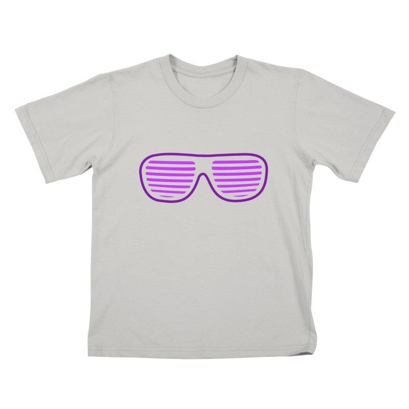 Purple Glasses Kids T-Shirt by 2Dyzain's Artist Shop