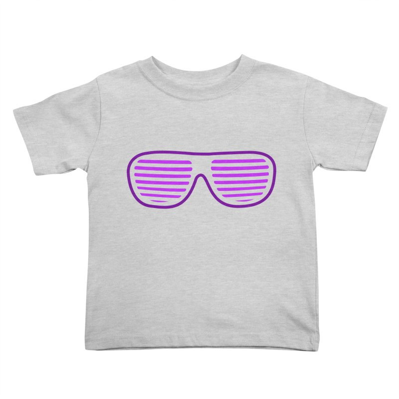 Purple Glasses Kids Toddler T-Shirt by 2Dyzain's Artist Shop