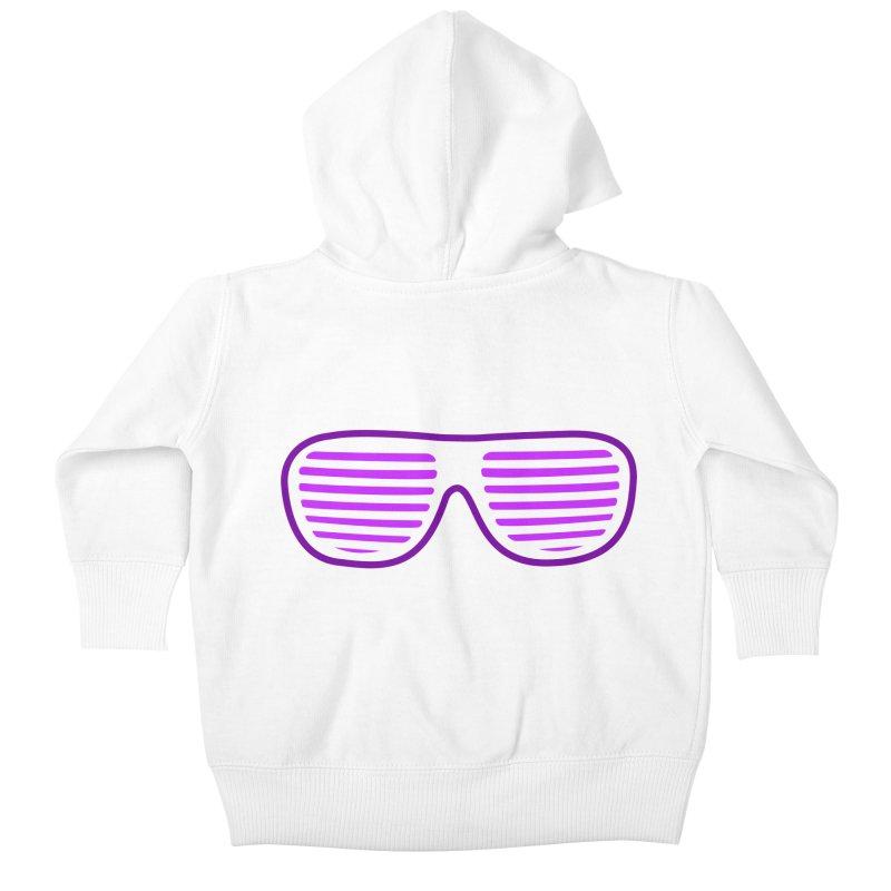 Purple Glasses Kids Baby Zip-Up Hoody by 2Dyzain's Artist Shop