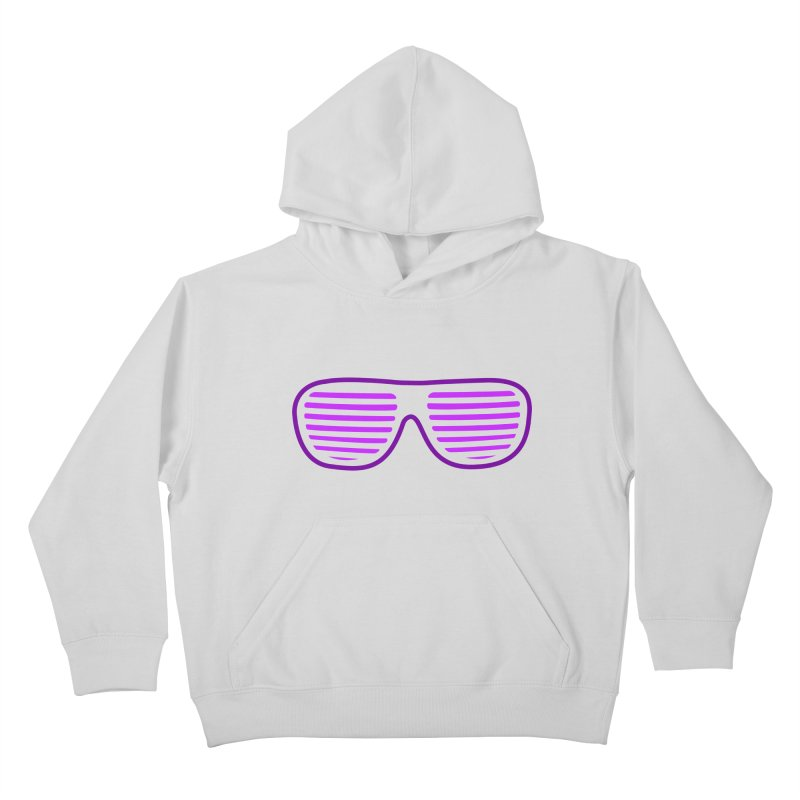 Purple Glasses Kids Pullover Hoody by 2Dyzain's Artist Shop