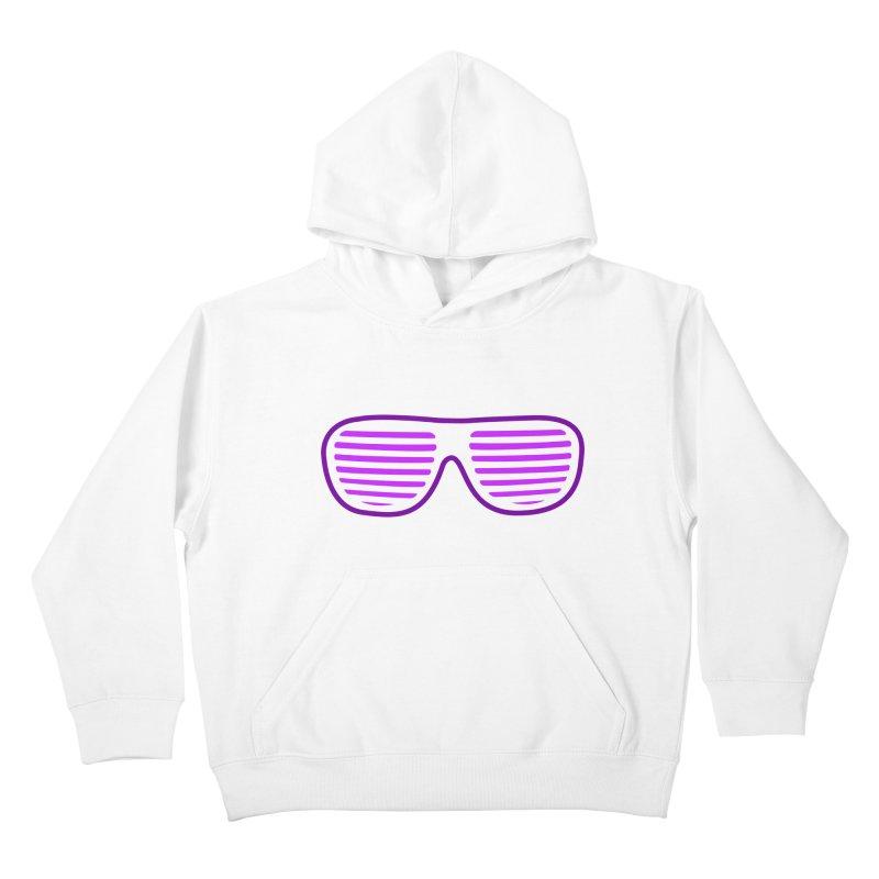Purple Glasses Kids Pullover Hoody by 2Dyzain's Artist Shop