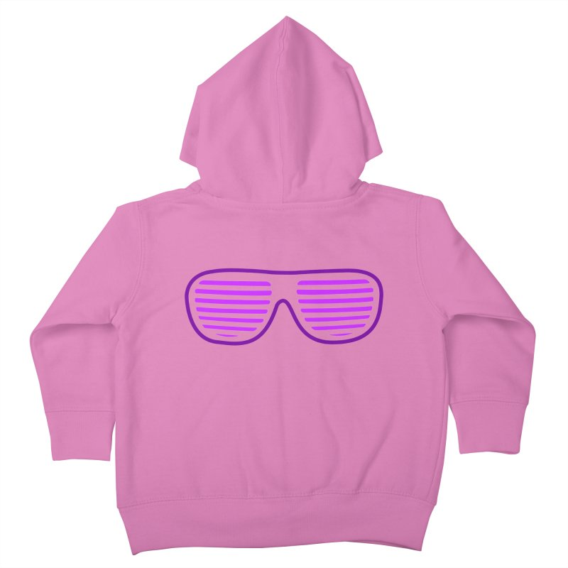 Purple Glasses Kids Toddler Zip-Up Hoody by 2Dyzain's Artist Shop